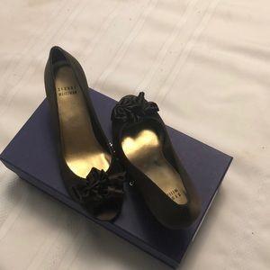Stuart Weitzman Shoes - Stuart Weizman Marimbow heels in chocolate satin